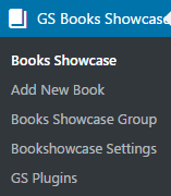 GS Bookshowcase Menu